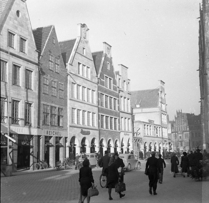 Prinzipalmarkt um 1950 - Foto Sammlung Stoffers (Münsterländische Bank Thie - Stadtarchiv)