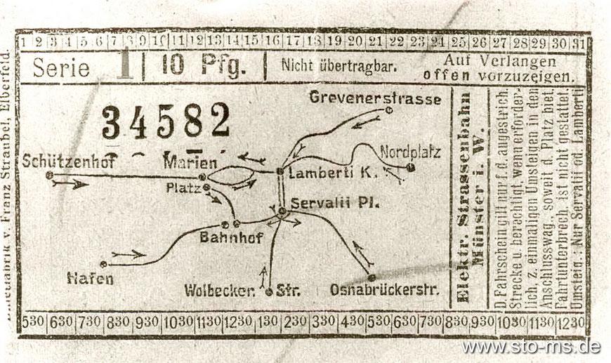 Das Schienennetz der Straßenbahn