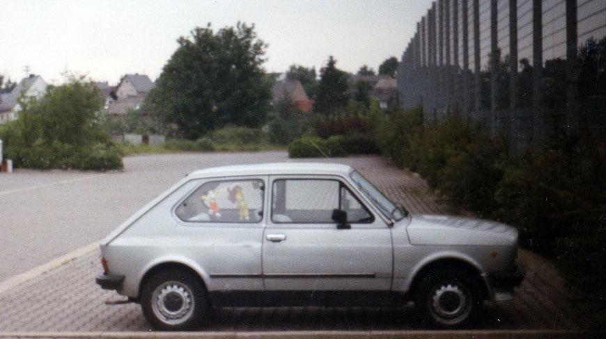 1991: Martins erstes Auto - Fiat 127, 14 Jahre alt, Kaufpreis 1.500 DM
