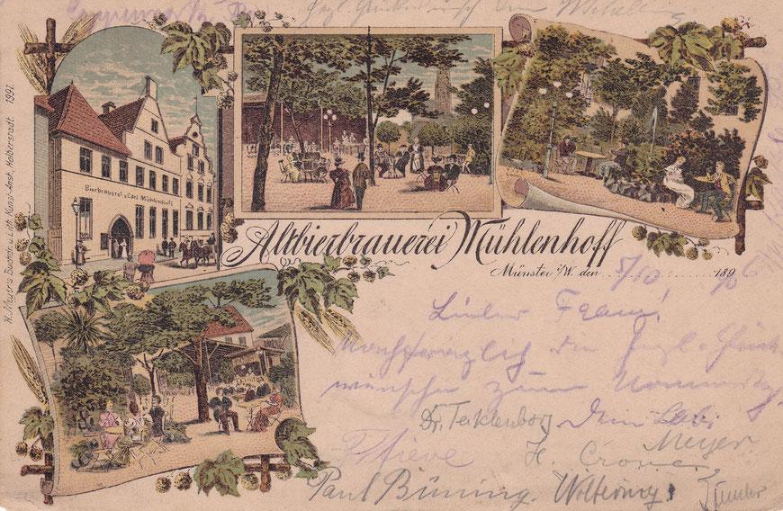 Altbierbrauerei Mühlenhoff - Sammlung Stoffers (Münsterländische Bank Thie - Stadtarchiv)