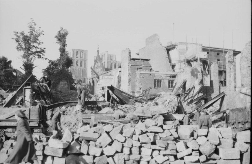 Prinzipalmarkt 15.10.1946 - Foto Carl Pohlschmidt - ULB Münster