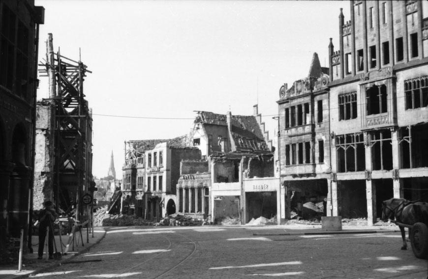 Sommer 1945 - Der Drubbel - Foto Carl Pohlschmidt - ULB Münster