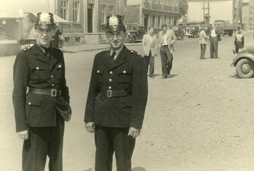 Ende der 1940er Jahre - Links: Heinz Babatz?