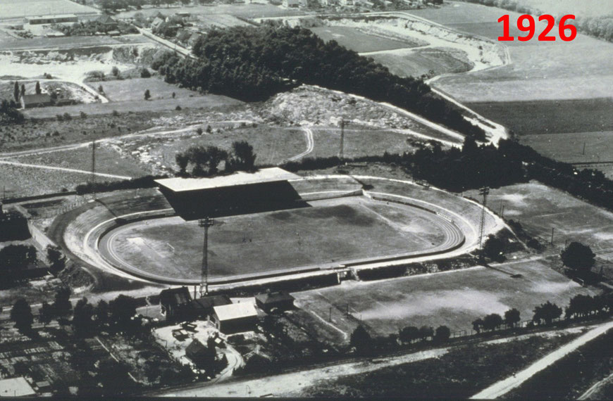 Das Stadion des SCPreußen Münster wird gebaut