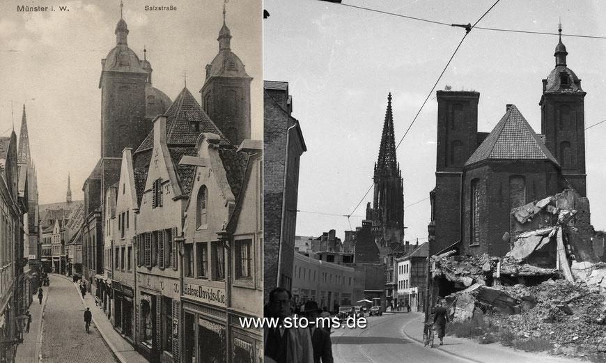 Die Salzstraße um 1910 und Ende der 1940er Jahre