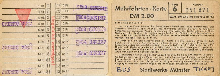 Mehrfachkarte Ende der 1950er Jahre - Sammlung Henning Stoffers