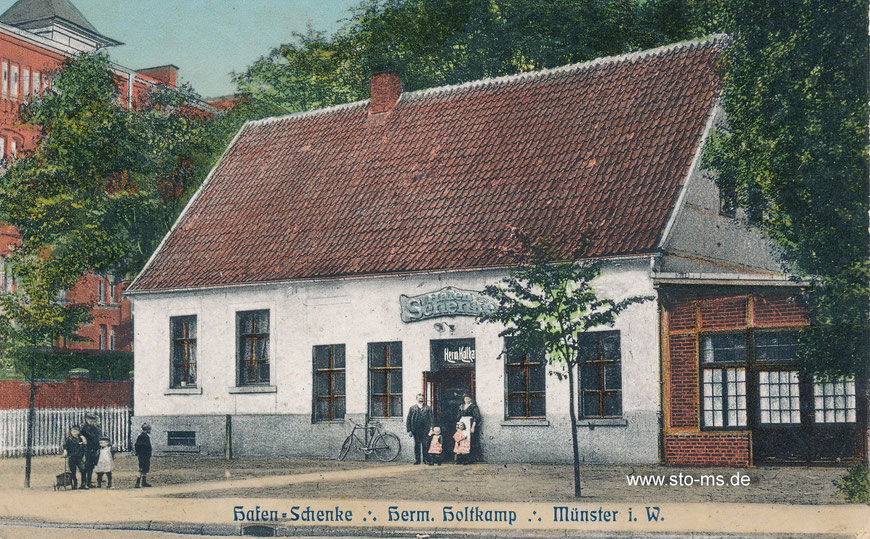 1928 heiratet Pinkus Regina Holtkamp, Tochter des Gastwirtes Hermann Holtkamp aus Münster. Sammlung Henning Stoffers