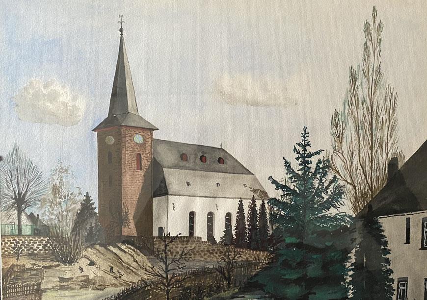Die Dorfkirche seines Heimatortes, der geheime Kompass seines  beruflichen Lebens