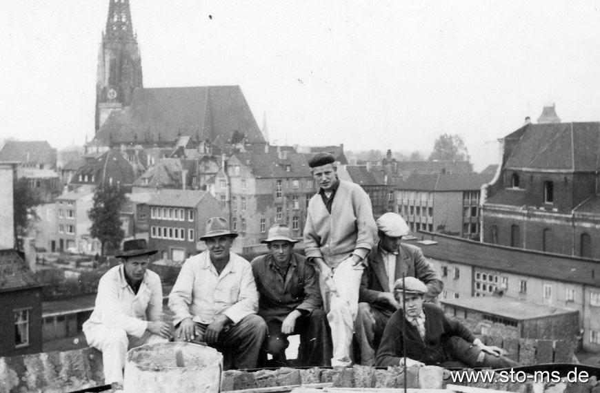 Auf der Baustelle Clemenskirche - Foto Willi Zumbrock