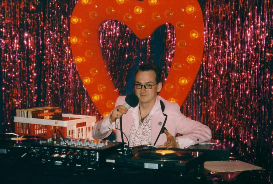Adam Riese am 3.1.1998 bei der Eröffnung der Luna Bar