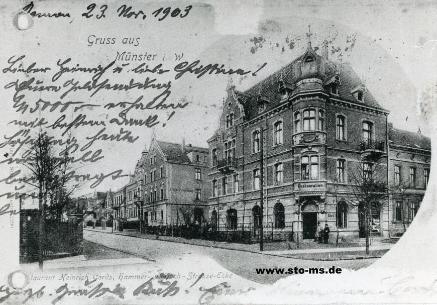 Die Gaststätte Heinrich Cords 1903 - Ecke Hammer Straße-Hochstraße