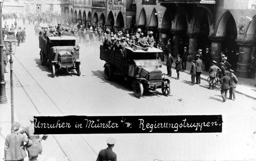 1919: Auf dem Prinzipalmarkt - Sammlung Stoffers (Münsterländische Bank - Stadtarchiv)