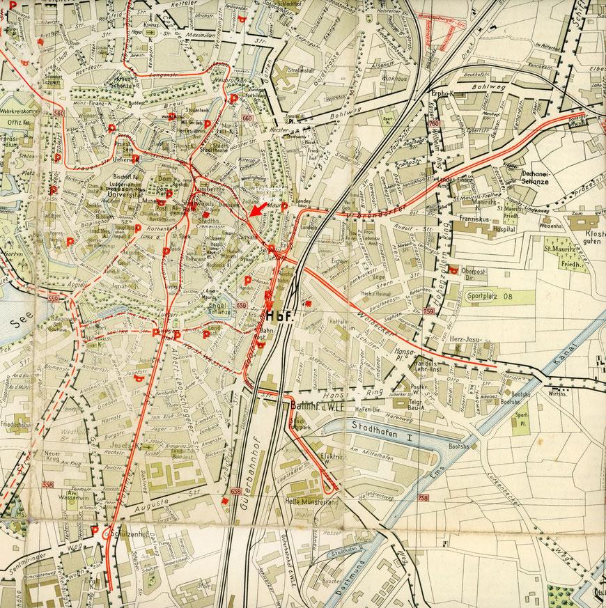 Streckenplan 1936 - Sammlung Henning Stoffers
