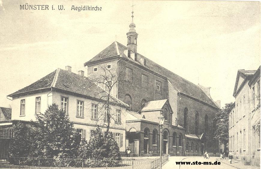 Die Aegidiikirche um 1900