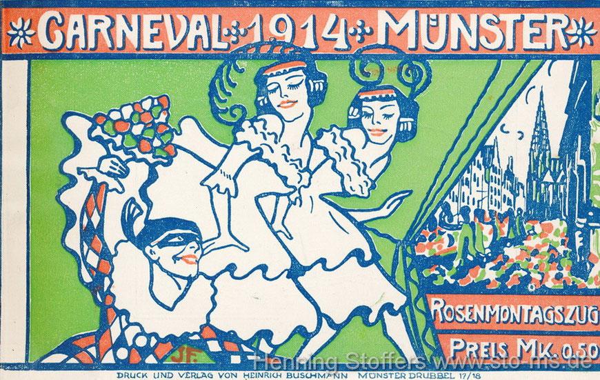Broschüre zum Karnevalsumzug  1914