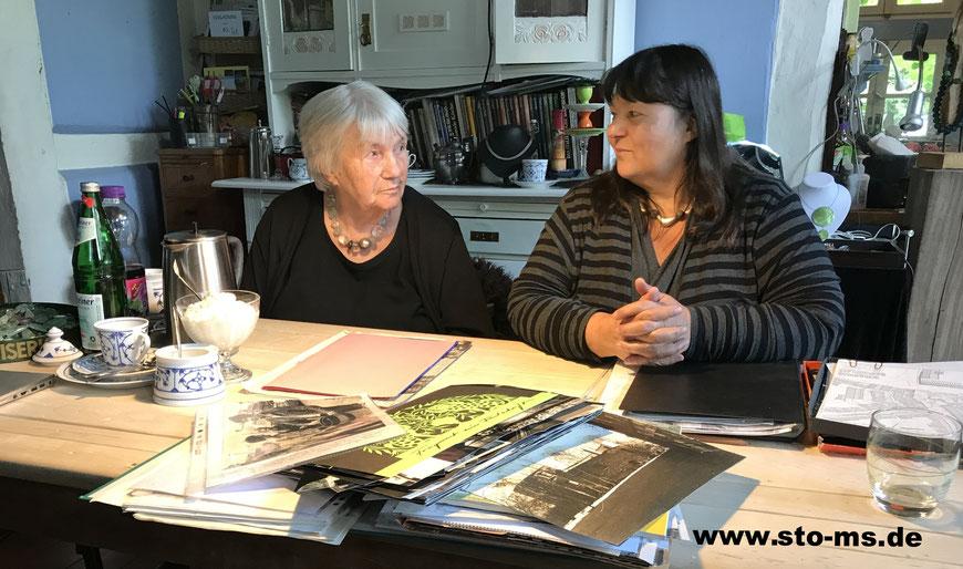 Karin und Katharina Weldert bei meinem Interview - Foto Henning Stoffers