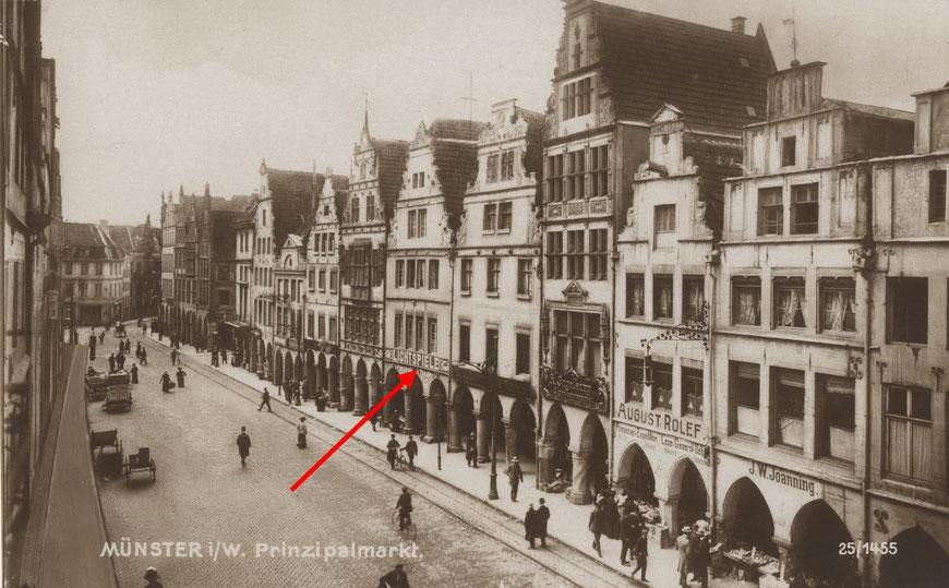 Das ,Prinzipal-Theater' auf dem Prinzipalmarkt 34 um 1910