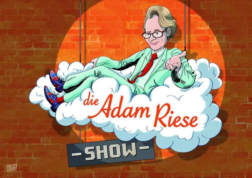 Die Adam Riese Show - Logo (Logo von M4 Media nach einer Zeichnung von Olaf Preiss)