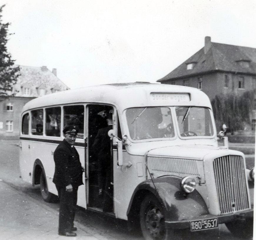 Hochzeitsbus 1952