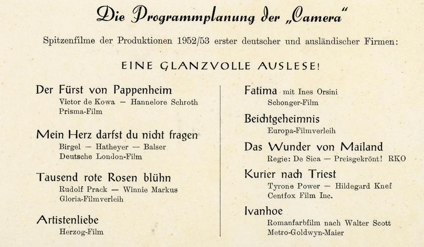 Die ,Camera' von der Grevener Straße  gibt es seit vielen Jahren nicht mehr