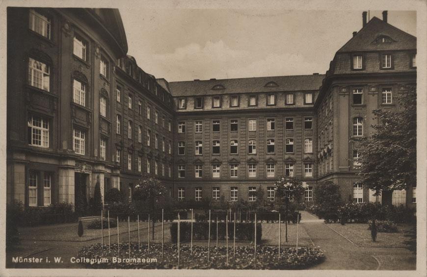 Das Borromaeum um 1935 - Sammlung Stoffers (Münsterländische Bank Thie - Stadtarchiv)