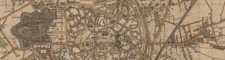 Stadtplan von 1892 - Ausschnitt