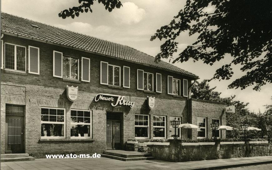 Der ,Neue Kruge' an der Wesler Straße - Links (nicht im Bild) war der Eingang zum Kino - Foto Norbert Muddemann