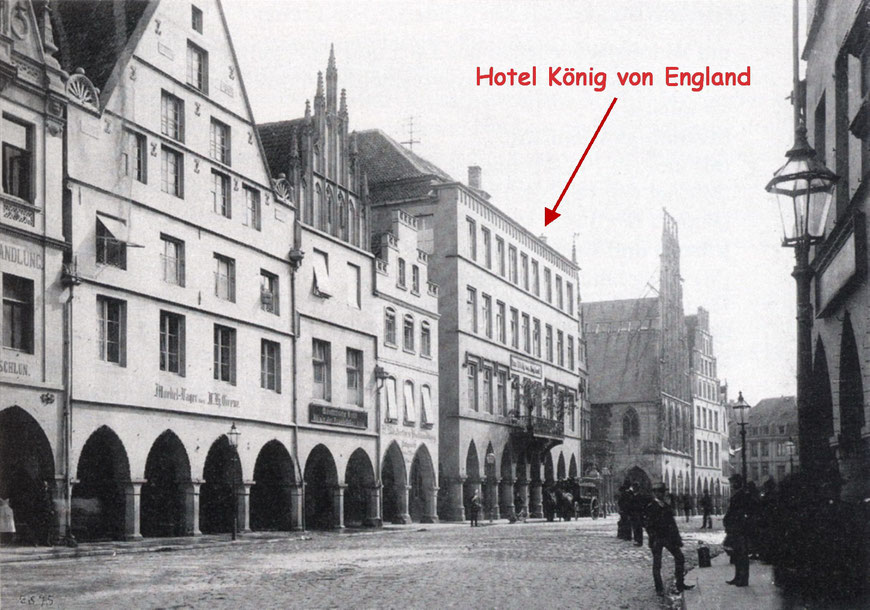 Blick auf den Prinzipalmarkt - Sammlung Stoffers (Münsterländische Bank Thie - Stadtarchiv)