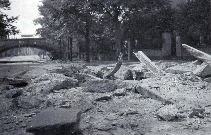 Die Wolbecker Straße mit Unterführung