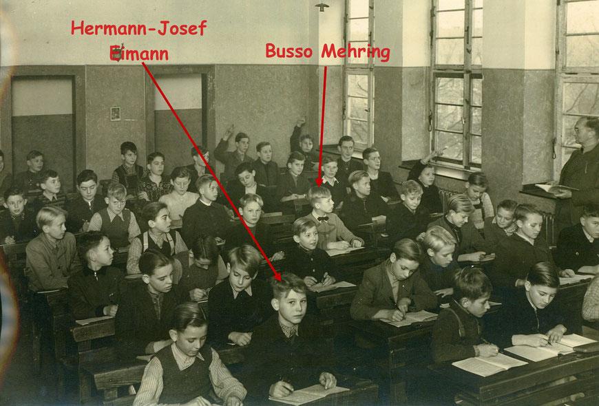 Das Ratsgymnasium in der Geistschule 1949 - Foto:  H.J. Eimann