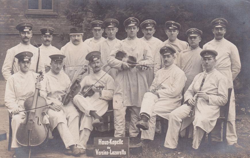 Soldaten im Vereinslazarett Hiltrup