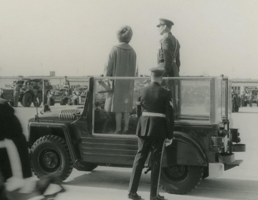 Um 1960 - Prinzessin Margret in der York-Kaserne