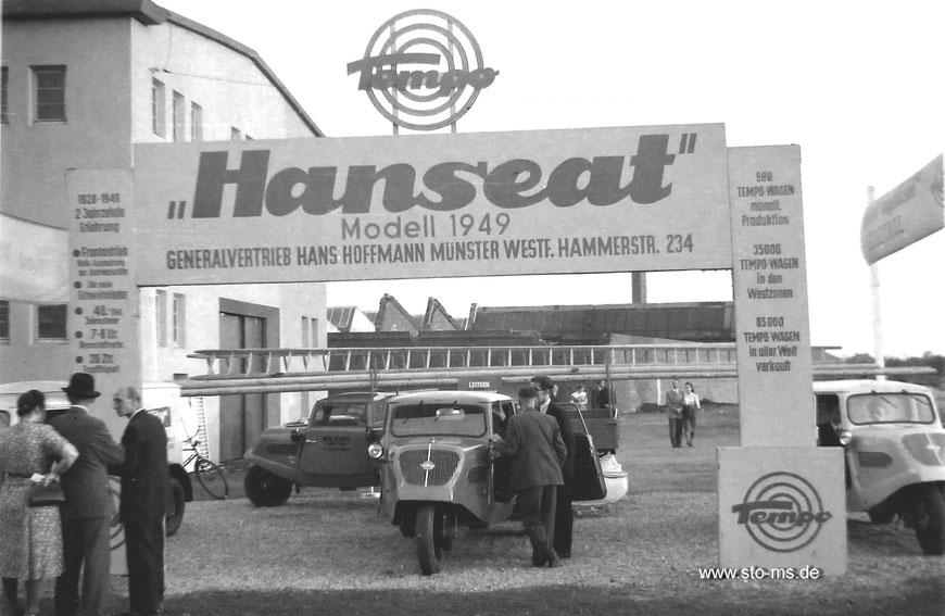Der Arbeitsplatz von Heinz Becker Ende der 1940er Jahre an der Hammer Straße