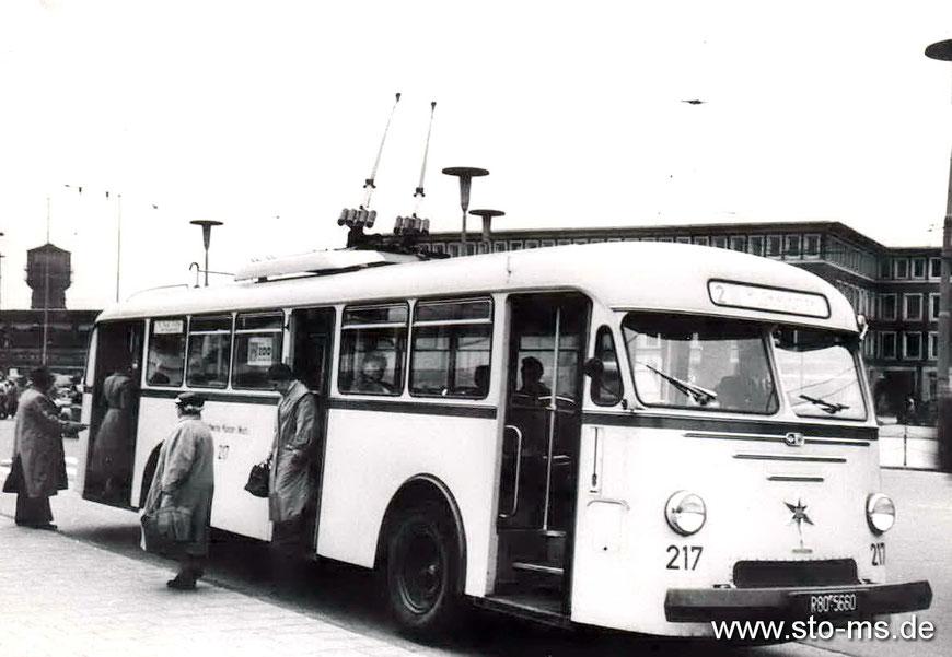 O-Bus am Hauptbahnhof
