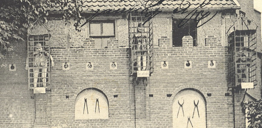 Makabrer ,Scherz' um 1900 - Zeitweise beherbergten die Körbe lebensgroße Puppen