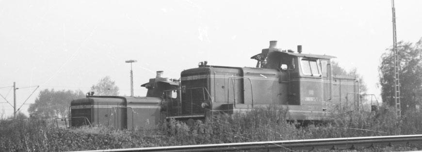 Zwei V60 Rangierloks auf dem Ablaufberg...