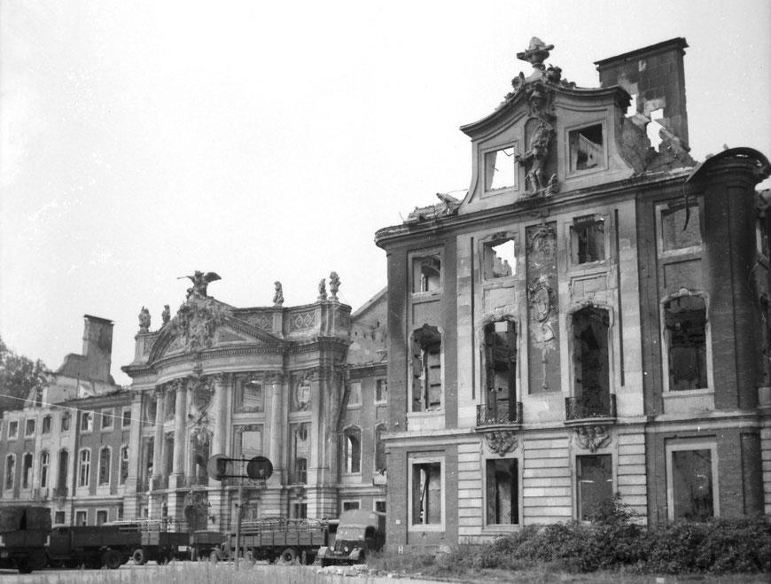 Das Münsteraner Schloss im September 1945: Sammlung Carl Pohlschmidt, ULB Münster