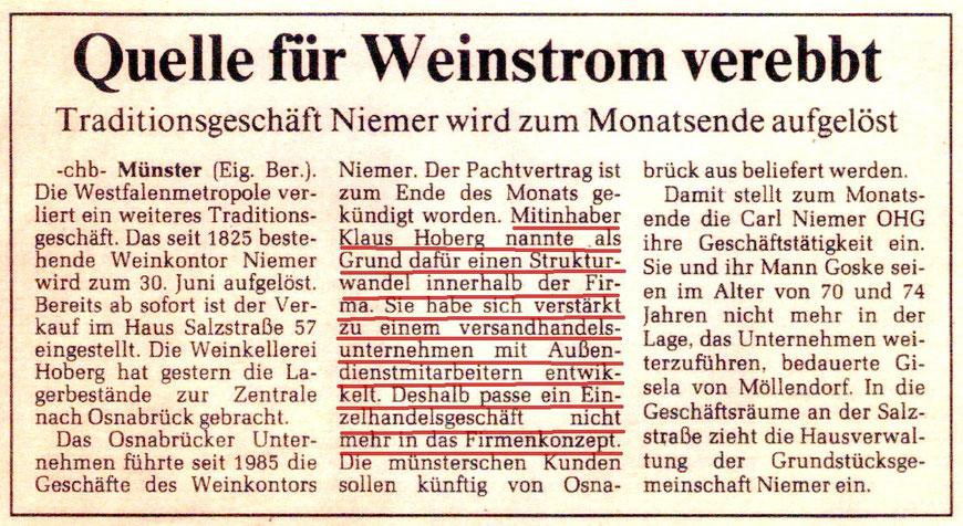 Westfälische Nachrichten 26.6.1992