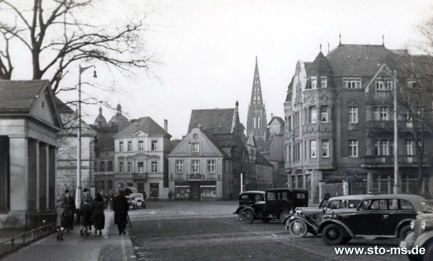Vom Mauritztor auf die Telgter Straße und Mauritzstraße