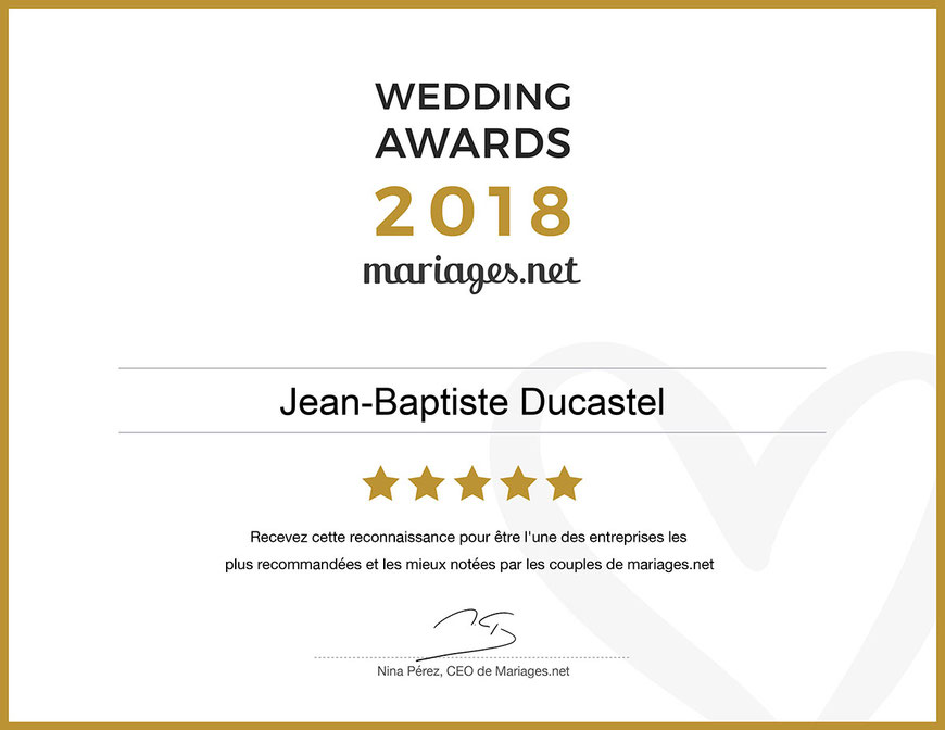 Wedding Awards 2018 photographes recommandés