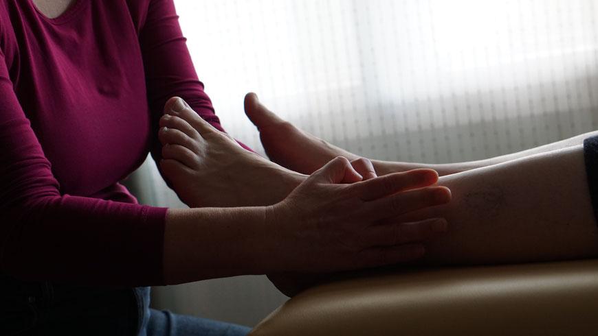 Technik der Fußreflextherapie, Heilpraktiker, Lübeck, RZF