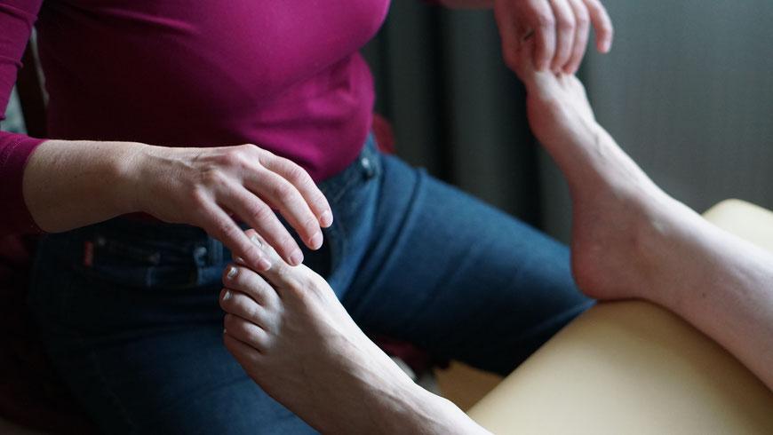 Technik der Fußreflextherapie, Heilpraktiker, Fussreflextherapie, Reflexzonentherapie Hanne Marqurardt