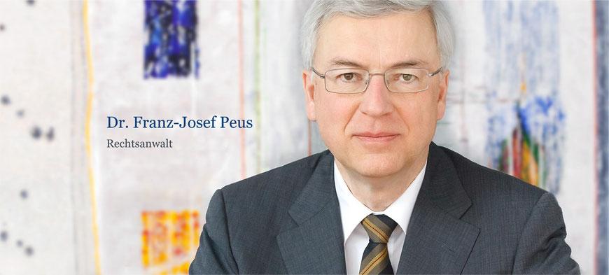 Dr. jur. Franz-Josef Peus (* 12. März 1949, + 15. September 2019)