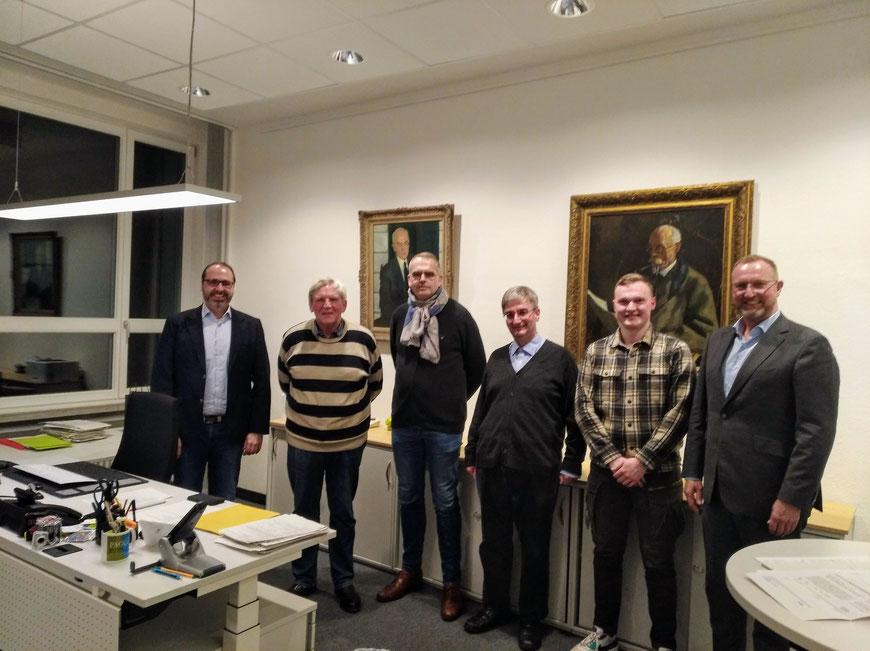 7er-Sitzung vom 2. März 2020:  Dr. Franke, Boer, Dr. Reilmann, Gospos,Winnecken jun., Winnecken sen.