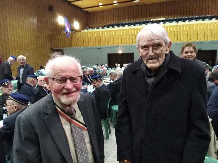 Unsere Ältesten beim Farbenfest 2019: Günther Fincke (1941) und Gisbert Maué (1949)