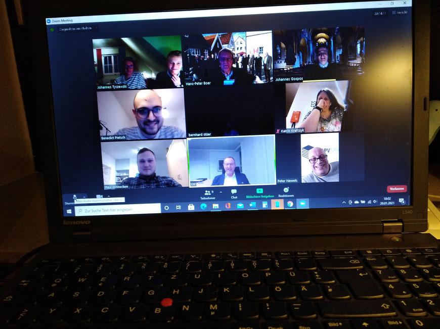 Auch die 7er werden digital: Die Sitzung des Vorstandes unserer Vereinigung fand am 20. Januar in einem Video-Meeting statt und ist doch recht  gut verlaufen.