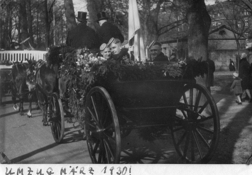 Kutschenumzug der Abiturientia Paulina 1930 (Bild: Archiv Alte Pauliner)