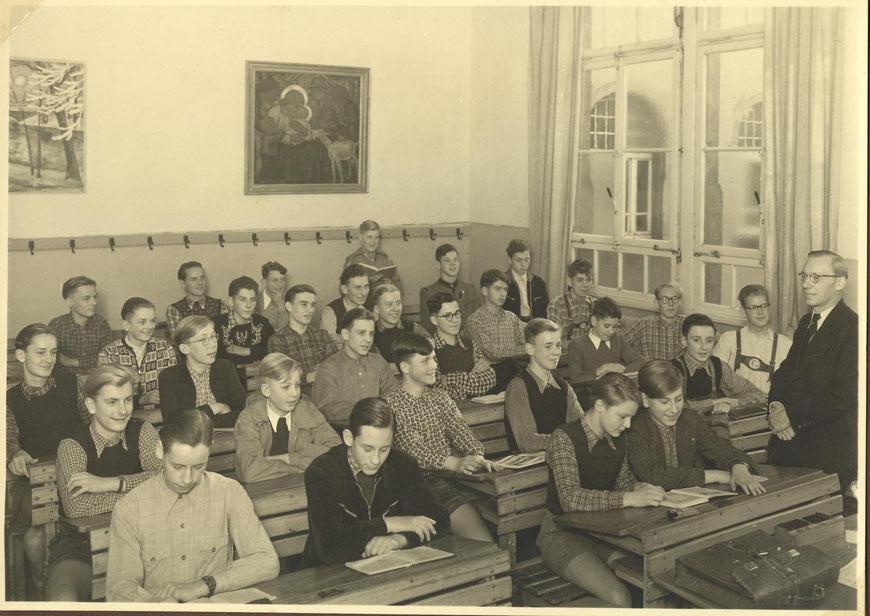 Klasse OIII a 1953 mit dem Klassenlehrer Josef Schmitz II