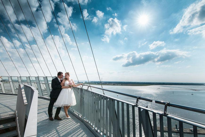 Auf den Dächern von Bremerhaven