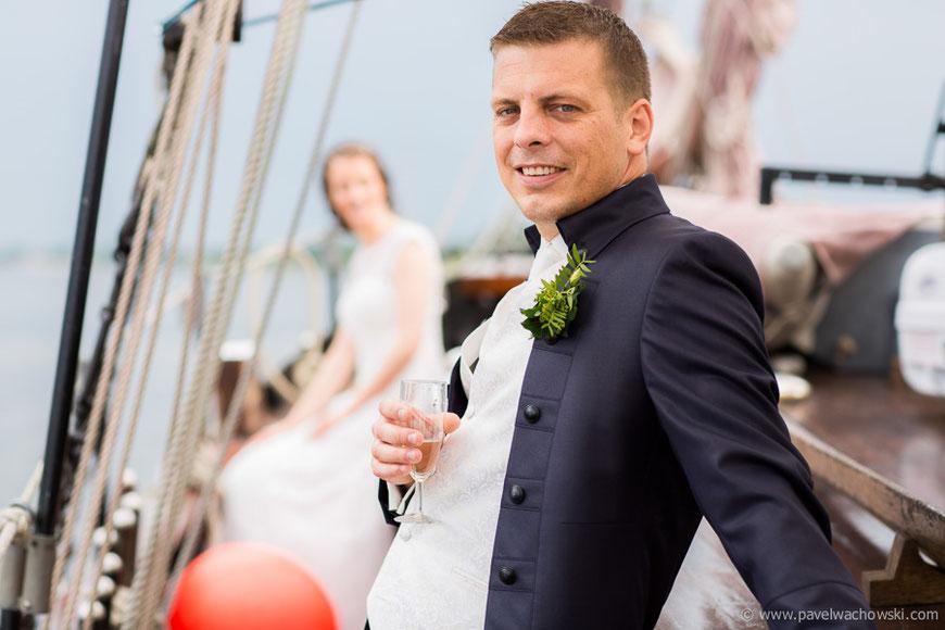 Bräutigam Shooting Hochzeit